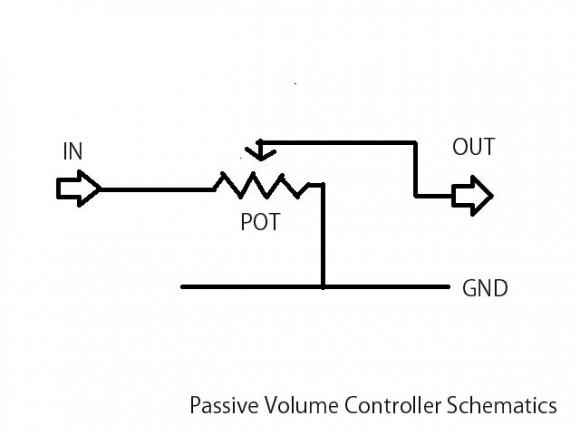 passive_volume_controller_schematics
